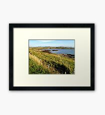 Looking across to the crofting village of Ullinish on the west coast of Skye Framed Print