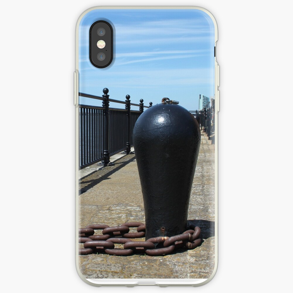 Old Boat Chain Next To The River Mersey, Liverpool, Merseyside iPhone Case & Cover