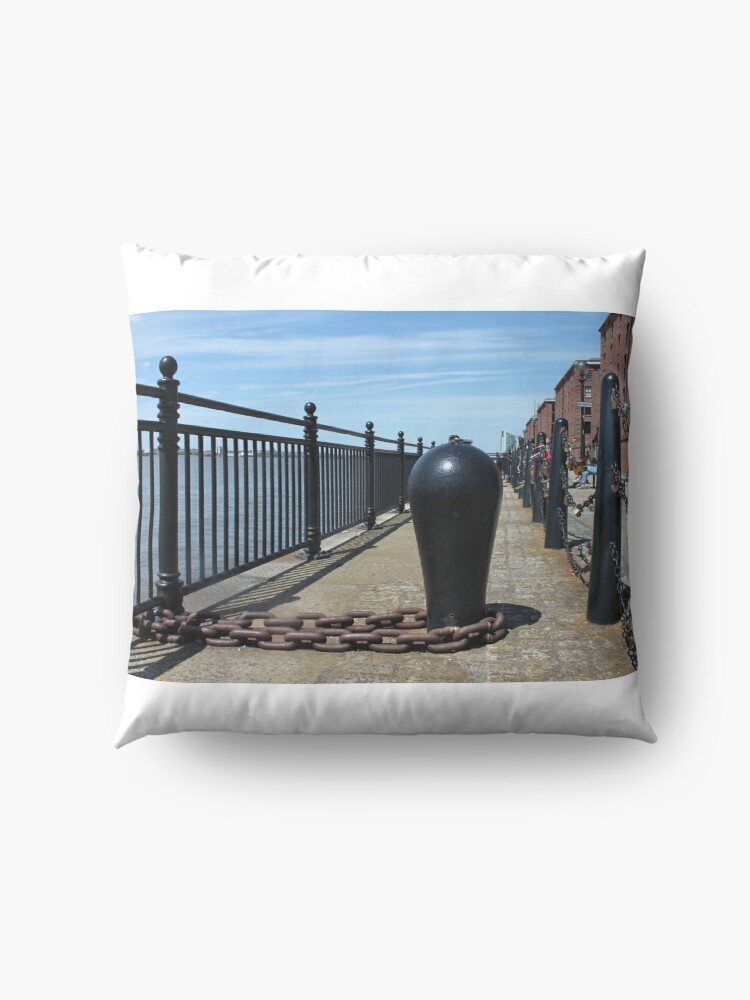 Alternate view of Old Boat Chain Next To The River Mersey, Liverpool, Merseyside Floor Pillow