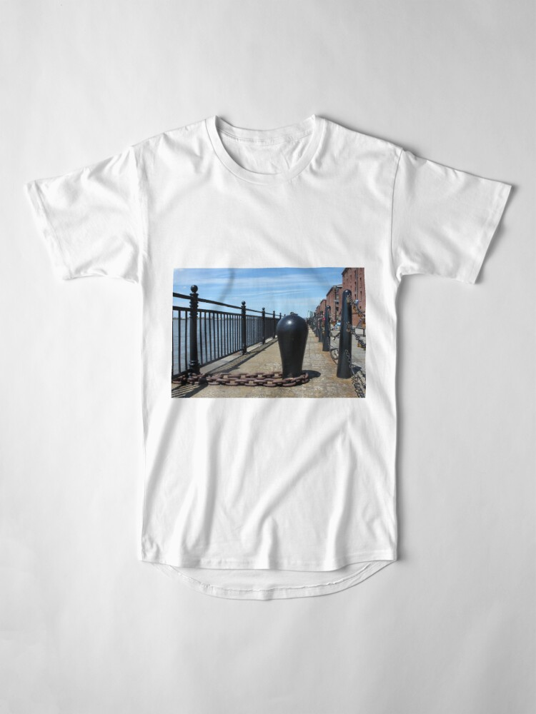 Alternate view of Old Boat Chain Next To The River Mersey, Liverpool, Merseyside Long T-Shirt