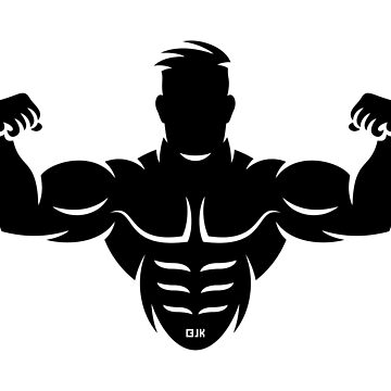Bodybuilder (Bodybulding / Biceps / Athletic Sports / Black) by MrFaulbaum