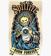 Spitfire Burn Forever Poster