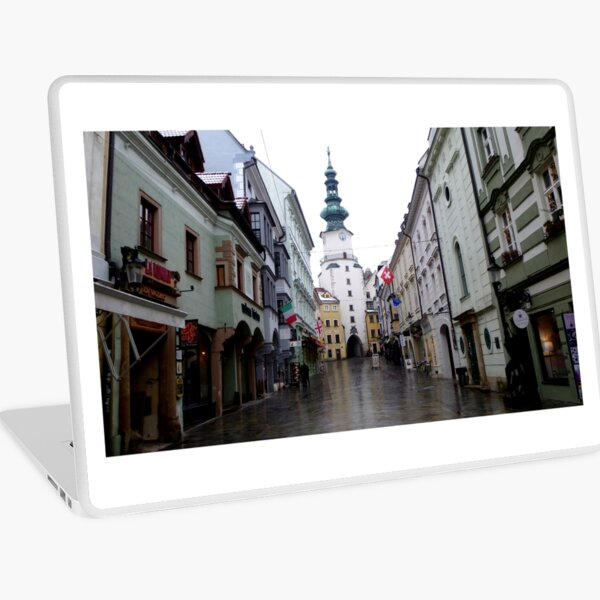Bratislava Old City Centre In January Laptop Skin