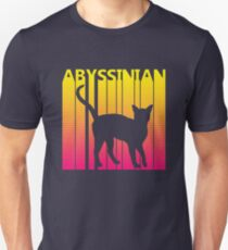 Funny Retro 1980s Abyssinian Cat Unisex T-Shirt