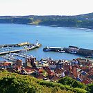 Scarborough, Yorkshire - Afternoon Shadows Panoramic View by mcworldent