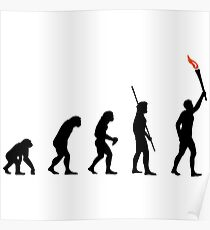 Evolution Feuerfackel Poster