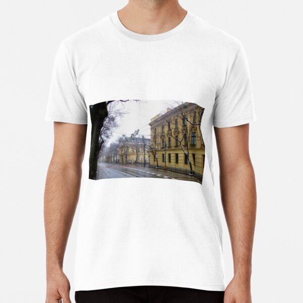Bratislava Street In Winter - After Snow Premium T-Shirt