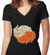 Oddly Balancing Women's Fitted V-Neck T-Shirt