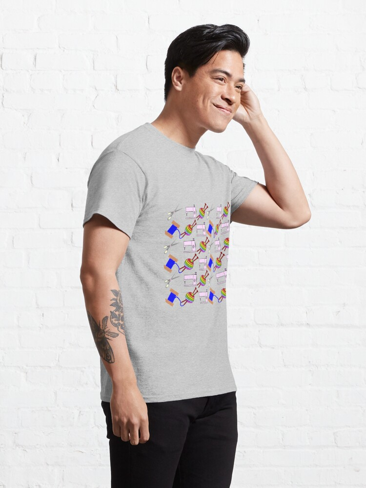 Alternate view of Crafts everywhere collage Classic T-Shirt