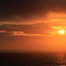 Orange Cornwall sunset by Chris Warham
