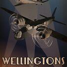 Wellingtons of 75NZ Squadron RAF (period illustration) by 75nzsquadron