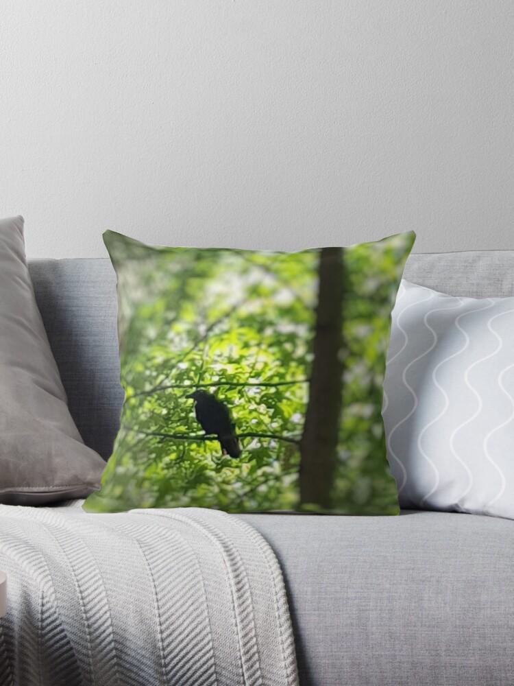 Black Bird Summer Green Tree 1 by ellenhenry