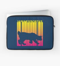 Funny Retro 1980s Japanese Bobtail Cat Laptop Sleeve