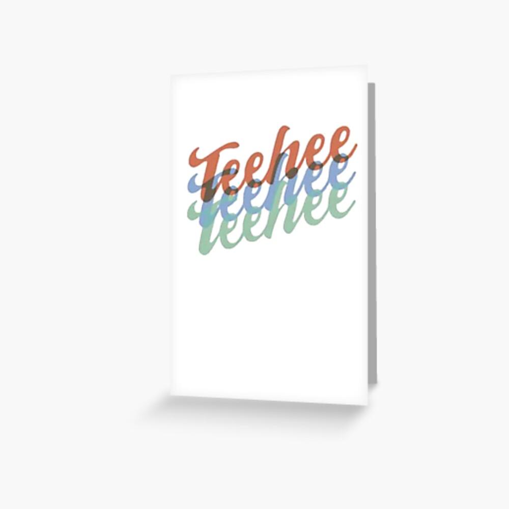 Teehee Ryan Higa Greeting Card By Hood112 Redbubble