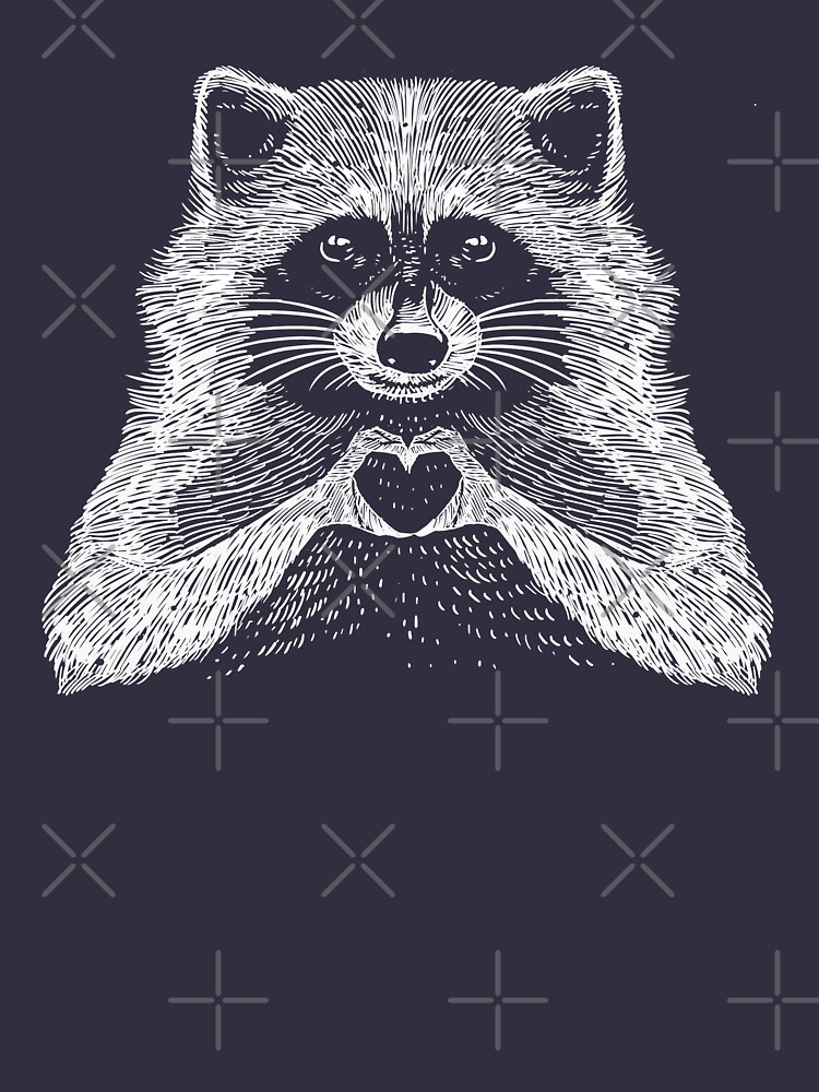 Love Raccoon - Animal Theme Design Suitable for Men and Women by barmalisiRTB