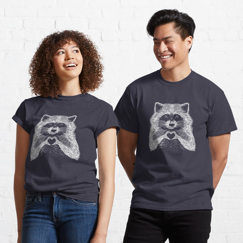 Love Raccoon - Animal Theme Design Suitable for Men and Women Classic T-Shirt