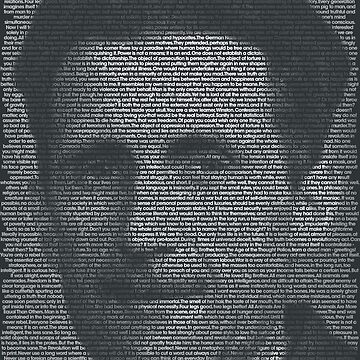George Orwell Quote Portrait by qqqueiru