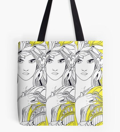 Three Muses Line Art Tote Bag
