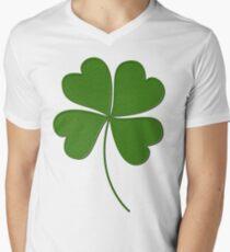 LUCKY CLOVER Men's V-Neck T-Shirt