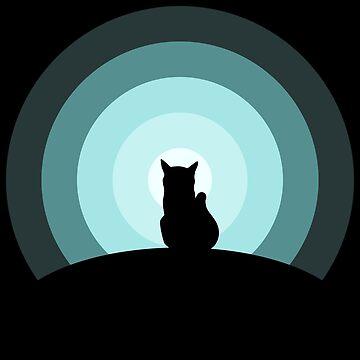 Moonlight Cat by Mahkor