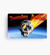 Doomsday Asteroid Canvas Print
