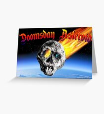 Doomsday Asteroid Greeting Card