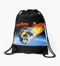 Doomsday Asteroid Drawstring Bag