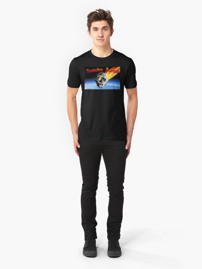 Alternate view of Doomsday Asteroid Slim Fit T-Shirt