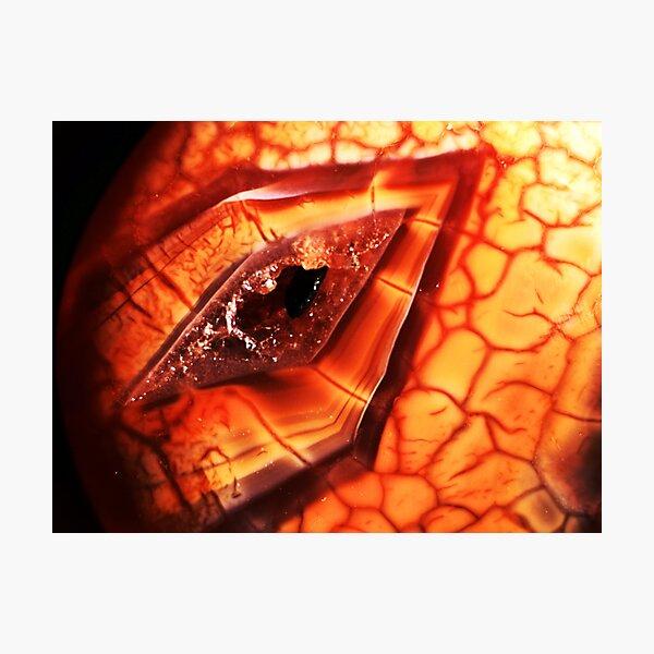 Dragon's Eye (Fire Agate) Photographic Print