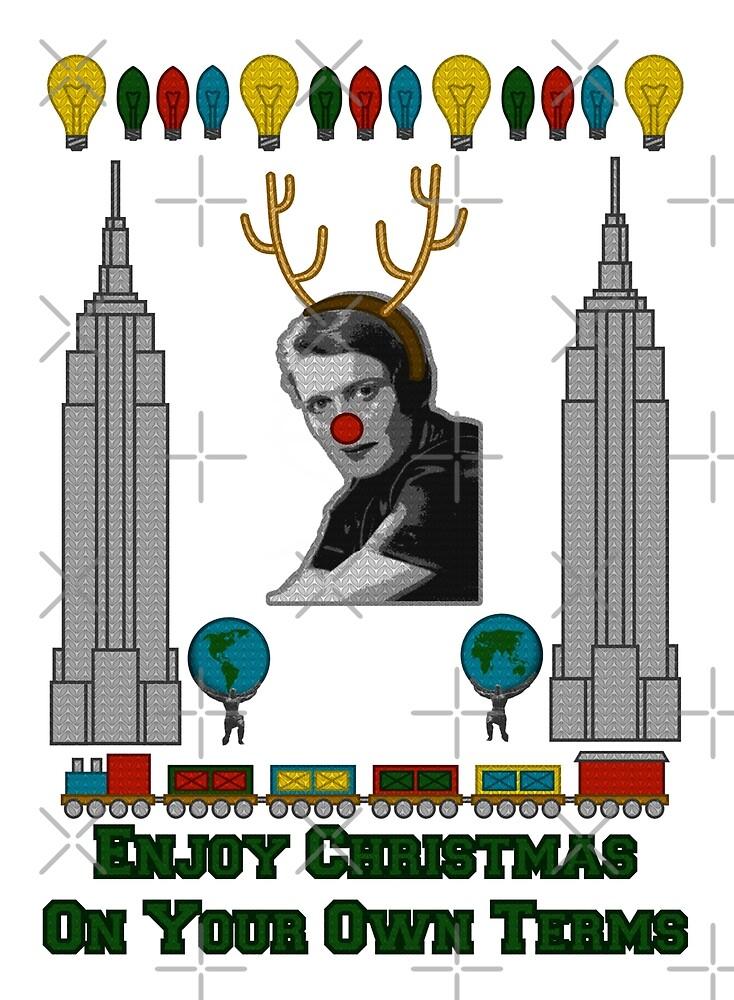 Ayn Rand Christmas Sweater by WhoIsJohnMalt