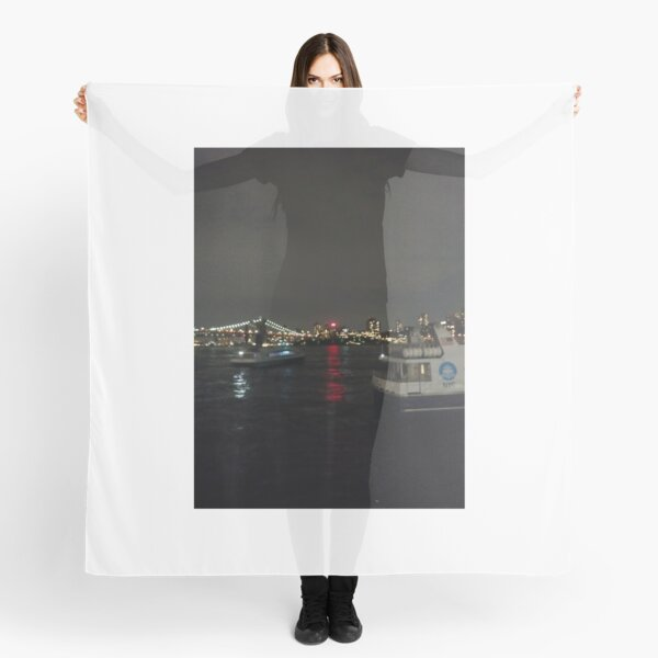 #Port, #crane, #ship, #industry, #sea, #cargo, #harbor, #dock, #shipping, #industrial, #night, #container, #water, #transportation, #transport, #cranes, #boat, #sky, #harbour, #nightlight, #reflection Scarf