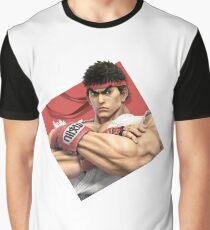 Smash Bros. Ultimate Ryu Diamond Icon Graphic T-Shirt