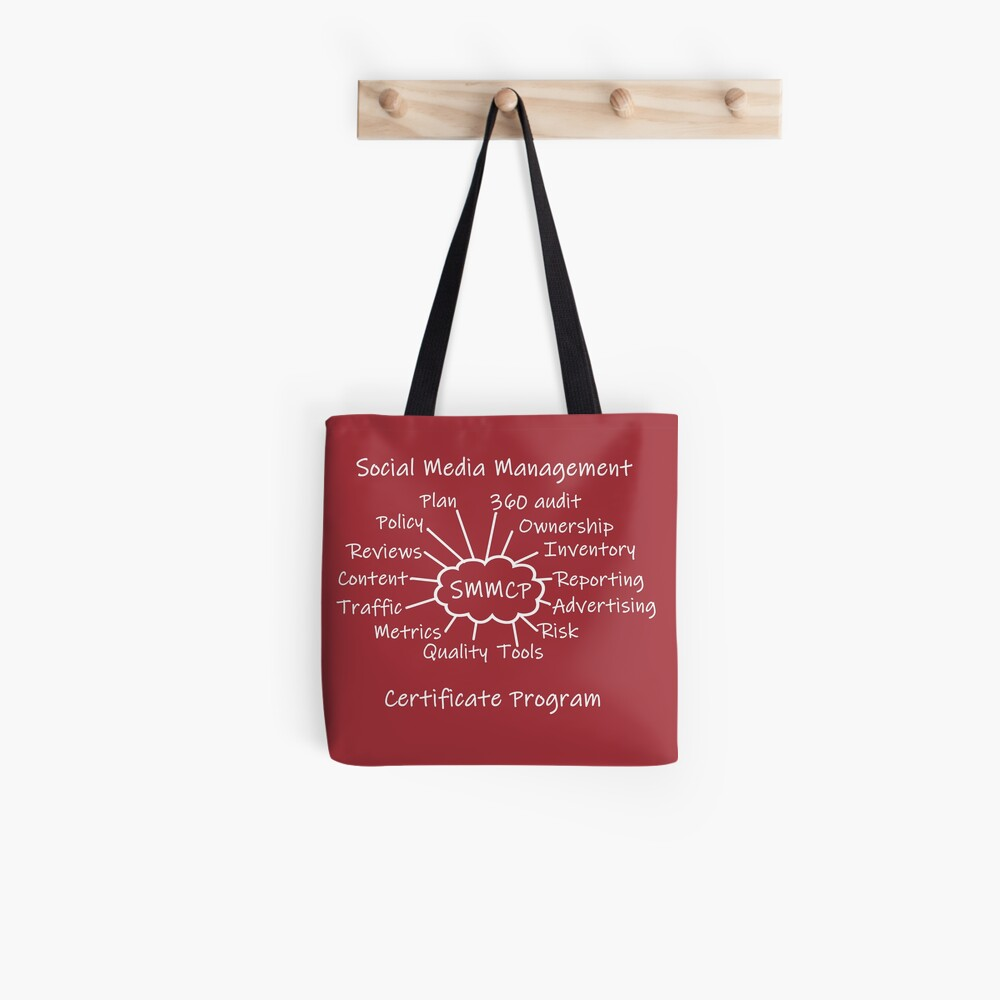 Social Media Management Certificate Program Swag Tote Bag