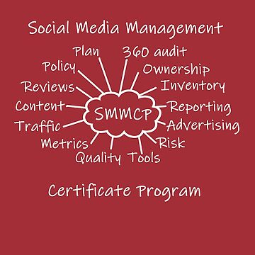 Social Media Management Certificate Program Swag by SpiritStudio