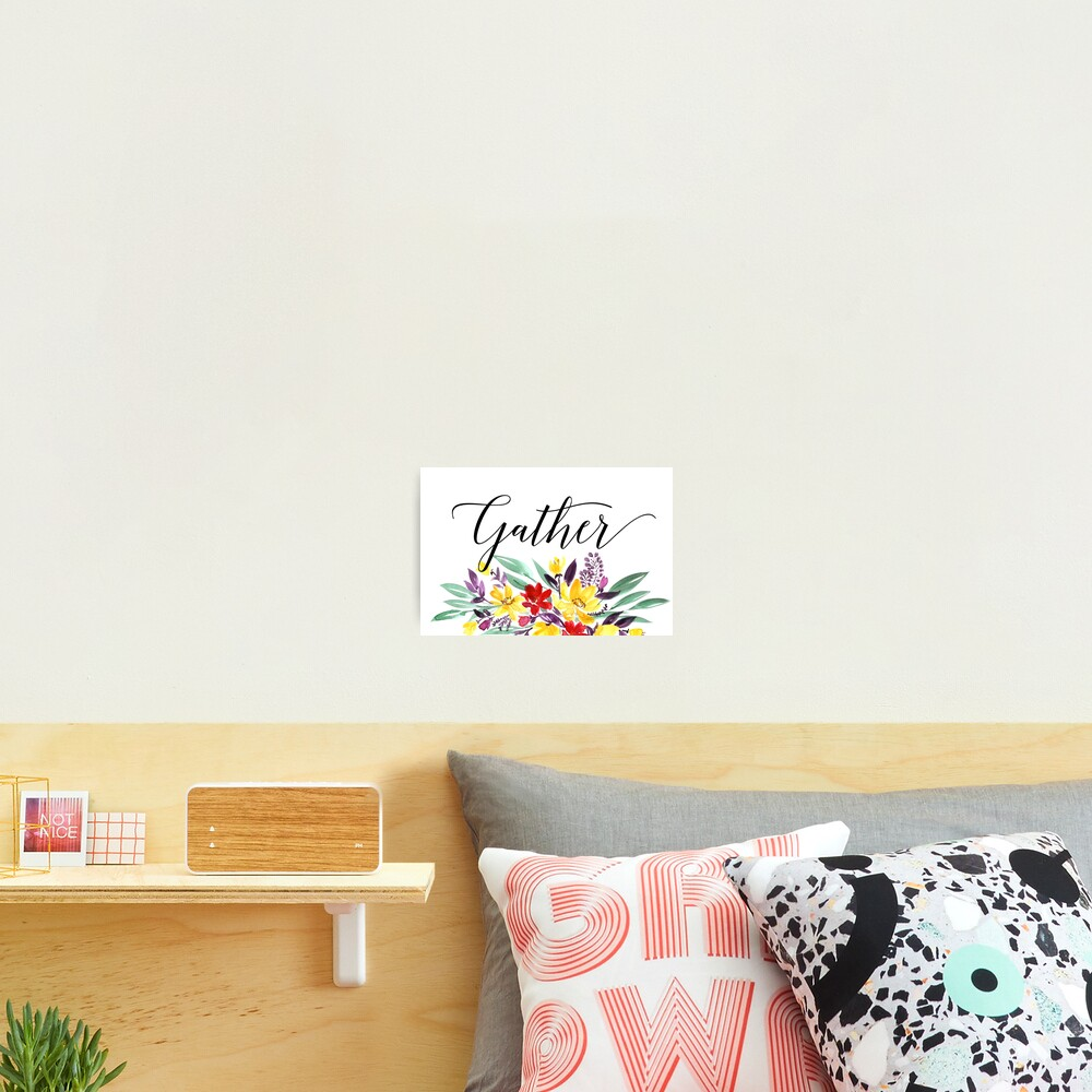 Gather floral  Photographic Print