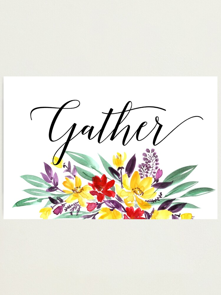 Alternate view of Gather floral  Photographic Print