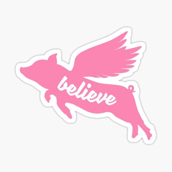 FLYING PIG BELIEVE Sticker