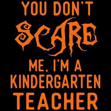 Funny Kindergarten Teacher Shirts Halloween Costume Gifts. by Bronby