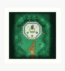 Zelda Mastersword Pixels Art Print