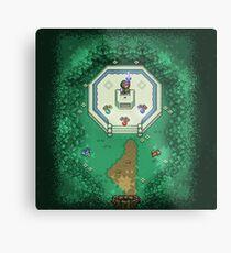 Zelda Mastersword Pixels Metal Print