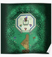 Zelda Mastersword Pixels Poster