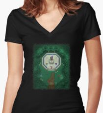 Zelda Mastersword Pixels Women's Fitted V-Neck T-Shirt