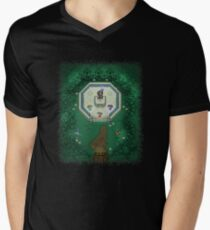 Zelda Mastersword Pixels Men's V-Neck T-Shirt