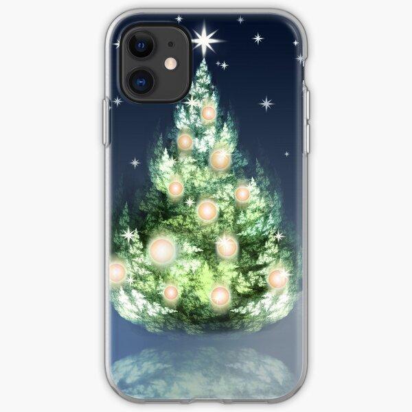 Fraktal-Weihnachtsbaum iPhone Flexible Hülle