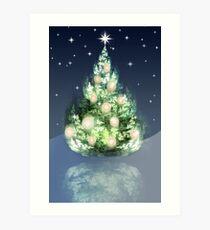Fraktal-Weihnachtsbaum Kunstdruck