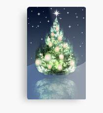 Fraktal-Weihnachtsbaum Metalldruck