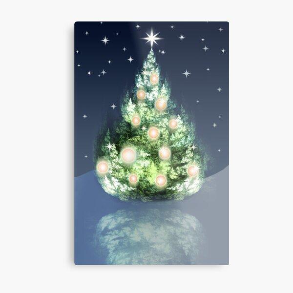 Fraktal-Weihnachtsbaum Metallbild