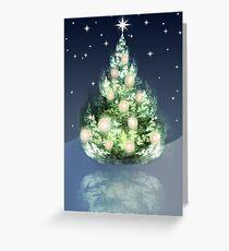 Fraktal-Weihnachtsbaum Grußkarte