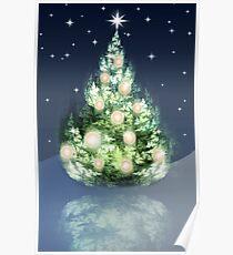 Fraktal-Weihnachtsbaum Poster