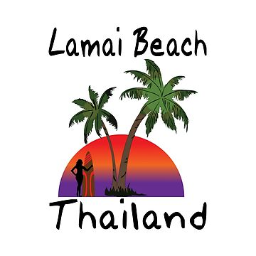 Lamai Beach Thailand. by RBBeachDesigns